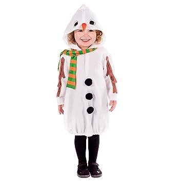 Fun Shack Blanco Muñeco De Nieve Disfraz para Niños y Niñas - S ...