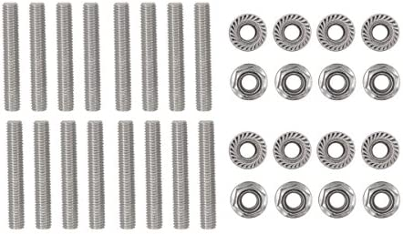 16 Pcs Stainless Exhaust Manifold Stud Nuts kit for Ford 4.6 /& 5.4 Liter V8 2 Manifolds