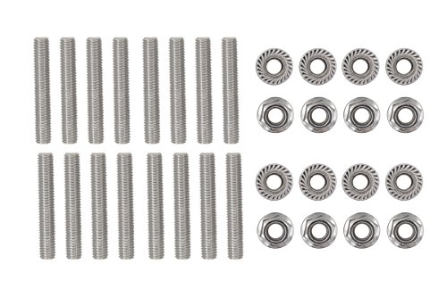 16 Pcs Stainless Exhaust Manifold Stud Nuts kit for Ford 4.6 & 5.4 Liter V8 2 Manifolds