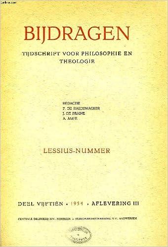 Livres gratuits Bijdragen, iii, 1954, tijdschrift voor philosophie en theologie, lessius-nummer epub, pdf