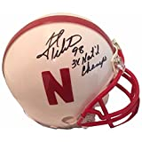 Grant Wistrom Autographed Nebraska Signed White Football Mini Helmet 3 X CHAMPS