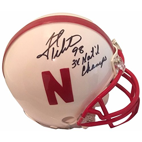 Grant Wistrom Autographed Nebraska Signed White Football Mini Helmet 3 X CHAMPS JSA COA