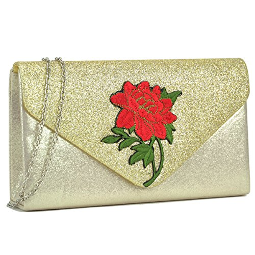 Ladies Evening Chain Strap with 117158 gold Wedding Bags Clutch Clutches Purse Women Handbags zTx5Ifq