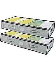 Underbed Storage Bags 2pcs Large Blanket Clothes Organizer Container Comforter Quilt Duvet Shoes Storage Bag 100x50x18 cm