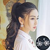 TKHNE s925 silver stud earrings women girls personality moon and stars take snowflake earrings earrings jewelry elegant Harmonie