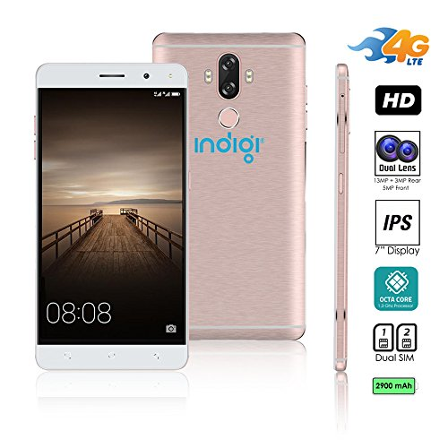 Indigi V40 6inch 2017 4G LTE Unlocked Android 7 Smartphone, 2 SIM, Octa-Core, Fingerprint Scanner - 6