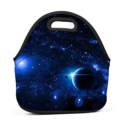 Spiral Helix Nebula Lunch Bag Portable Bento Pouch Lunchbox Baby Bag Multi-purpose Satchel Tote for Student Worker Travel Mummy