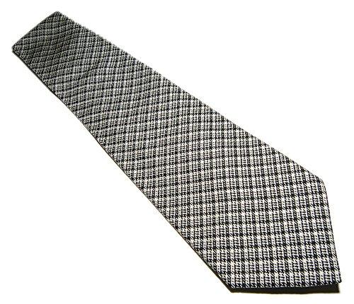 - Polo Ralph Lauren Purple Label Mens Navy Blue White Plaid Italy Silk Dress Tie