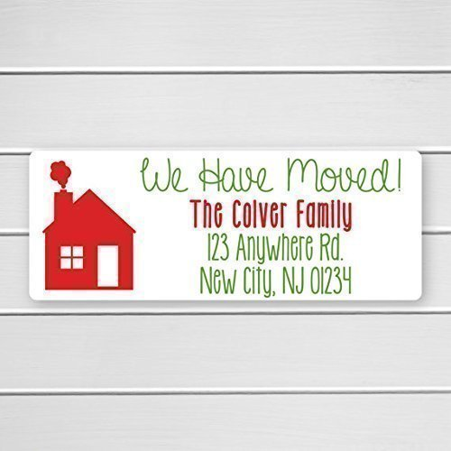 60ct christmas we have moved return address labels return address stickers holiday address