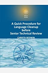 A Quick Procedure For Language Cleanup before Senior Technical Review Paperback