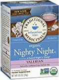 Traditional Medicinals Organic Nighty Night Valerian Tea - 16 Tea Bags -  (Pack Of 3)