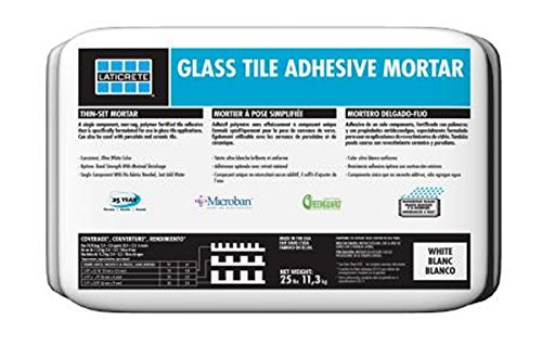 Laticrete Glass Tile Adhesive Thin-set Mortar White 25 lb (Best Thinset For Glass Tile)