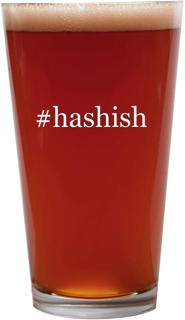 #hashish - 16oz Beer Pint Glass Cup