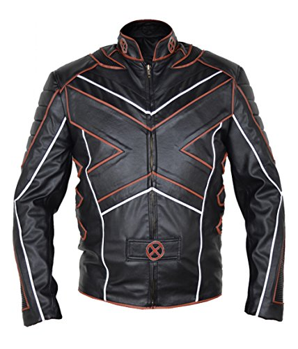 MSHC Men's X-Men Big X Faux Leather Jacket Large Black & Orange ()