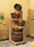 "John Timberland Stoneware Bowl and Jar Indoor-Outdoor 46"" H. LED Fountain"