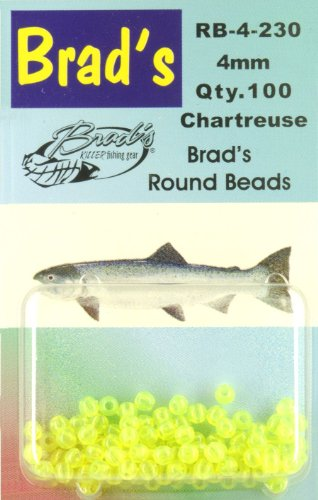 Brad's Round Beads - Chartreuse, 6mm, 75 pack