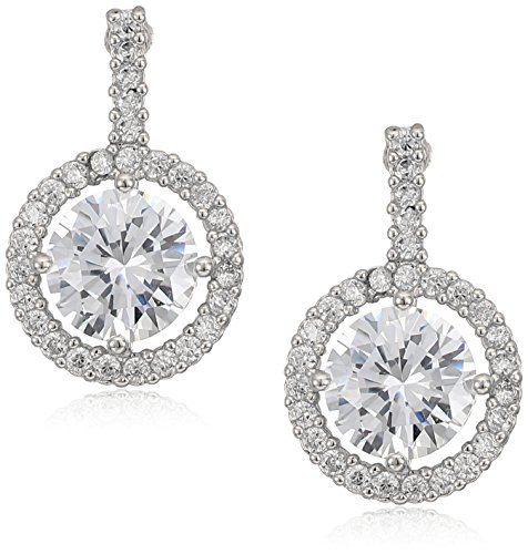 Anne Klein Silver Tone Single Drop Earrings - Anne Klein Single
