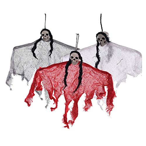 3pcs/lot Hanging Ghost Ornaments for Decor Home Office Ktv Bar Club Haunted House Escape Halloween Party Decor Acceaaories Devil ()