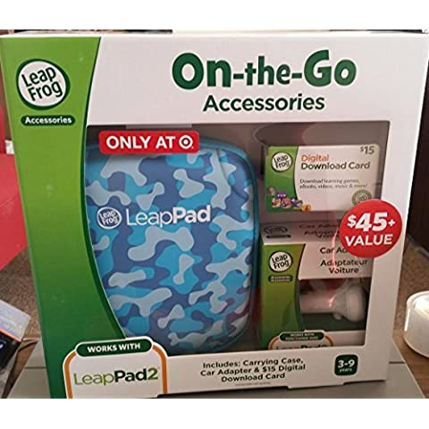 Leapfrog Leappad Accessories On-the-go Bundle. Blue Carrying Case, Car Adapter & $15 Digital Download Card - Leapfrog Car Adapter