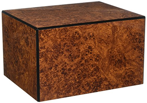 - Chateau Urns Society Collection, Large Adult Cremation Urn, Burl Wood Finish