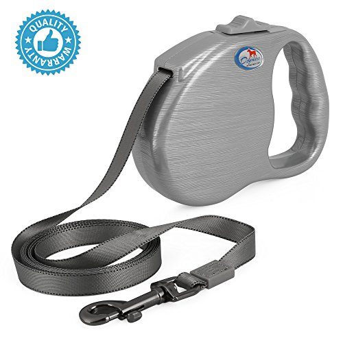 Dogness Retractable Dog Leash With One Button Locking System  Suitable For Kids Children  Reliable Lock Durable No Tangle  Walking Training Jogging For Small Medium Large Dogs 10   16 Ft Long 9 Colors