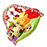 Dovewill Baby Soft Animals Play Mat Gym Blanket Fitness Frame Cotton Crawling Mat - Caterpillar, as described