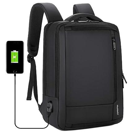 AIQQ Mochila para Portátil, Backpack/Mochila de Seguridad Impermeable 16 Pulgadas/Antirrobo Mochila