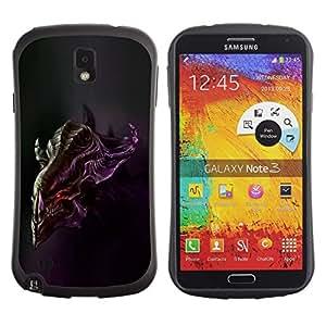 Suave TPU GEL Carcasa Funda Silicona Blando Estuche Caso de protección (para) Samsung Note 3 / CECELL Phone case / / Alien Head /