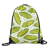 Ping Pong Printed Cute Drawstring Backpack Teen Girl Lightweight Travel Bag Tote Gymnastics