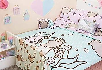 Pusheen Mermaid Wende Bettwäsche Set Für Einzelbett Doppelbett