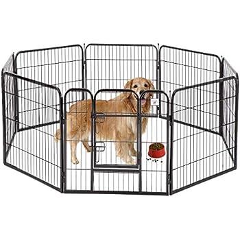 32-Inch Black BestPet Heavy Duty Pet Playpen Dog Exercise Pen Cat Fence B