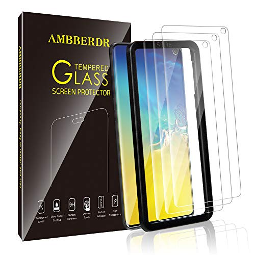 AMBBERDR [3-Pack] Screen Protector for Samsung Galaxy S10e Tempered Glass Case-Friendly Premium HD Clarity Protective Protector with Lifetime Replacement Warranty