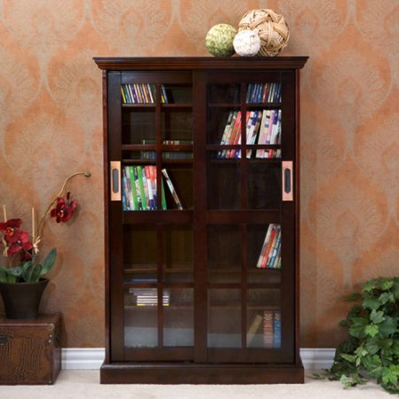 Tavares Sliding Door Media Cabinet, Espresso