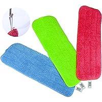 Las almohadillas de limpieza Reveal Mop se adaptan a todos los trapeadores en aerosol y los trapeadores reveladores lavables (15.5 * 5.5 pulgadas, 3PCS)