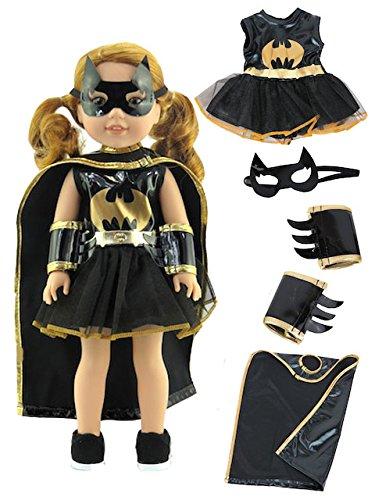 Little Batgirl Costume-Fits 14 Inch Wellie Wisher Dolls