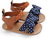 0-18M Baby Girl Infant PU Leather Rubber Sole Summer Shoes Sandals First Walkers