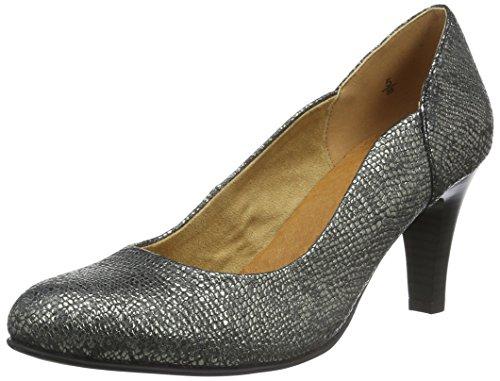 Caprice Damen 22402 Pumps, Silber (Silver Reptile 987), 42 EU