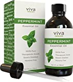 Viva Naturals Peppermint Essential Oil, 4 oz - 100% Pure & Therapeutic Grade, Premium Extract of Mentha Piperita
