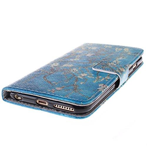 """2015 New Fashion Wallet Case Pour Apple iphone 6(4.7"""") , Yaobai elegant Fleur [Magnetique] Portefeuille PU Cuir [Closure] Stand Folio Protecteur Housse Etui Coque Case Cover Pour Apple iphone 6G 4.7""""i"""