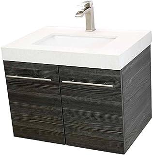 24 inch black bathroom vanity with sink. WindBay 24  Wall Mount Floating Bathroom Vanity Sink Set Vanities Dark Grey Vs ALEXIUS BLACK Vanity Sink Inch Floating Wall Hung Mount
