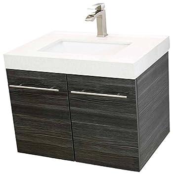 Windbay 24 Wall Mount Floating Bathroom Vanity Sink Set Vanities