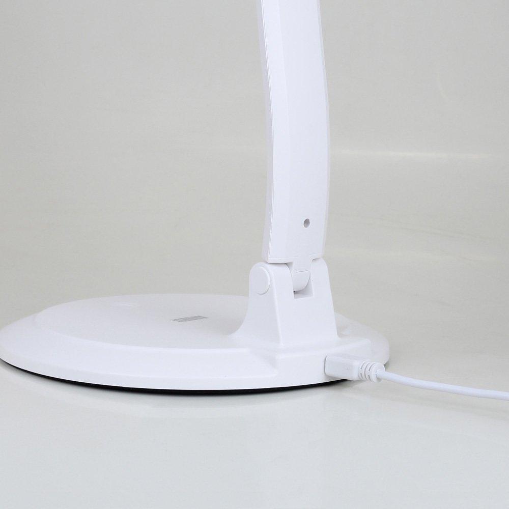 dimmbare led schreibtischlampe tischlampe leselampe b ro lampe mit akku ebay. Black Bedroom Furniture Sets. Home Design Ideas