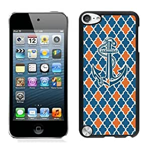linJUN FENGHot Sell Colorful Ipod 5 Cases for Boys for Girls Elegant Anchor Black Cover