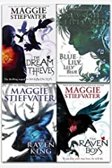 Raven Cycle Series Collection 4 Books Set By Maggie Stiefvater (The Raven King, Blue Lily, Lily Blue, The Dream Thieves, The Raven Boys) Paperback
