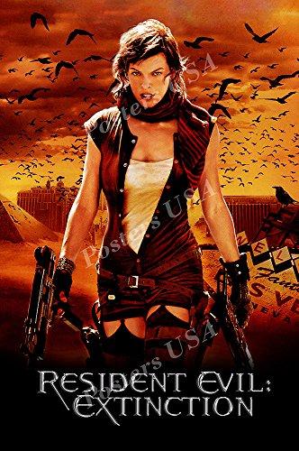 PremiumPrints - Resident Evil Bio Hazard Extinction Movie Poster - XMOV473 Premium Canvas 11