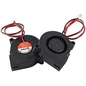 BCZAMD - Ventilador para impresora 3D, 12 V DC 5015, 50 x 50 x 15 ...