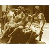 Quality digital print of a vintage photograph - Nude Burlesque Girls On Couch. Sepia Tone 8x10 inches - Luster Finish