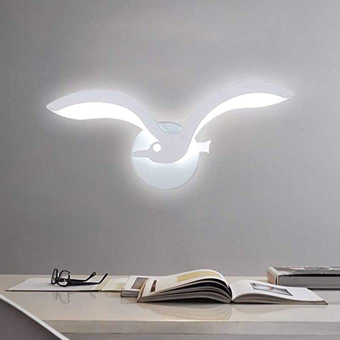 Innenbeleuchtung Wandspot M/öwe Wandleuchte Acrylschirm Drei Farben Neutrales licht 4500k LED Kreatives Nachtlicht Ausstellungshalle Hotelzimmer Nachttischlampe Gangflur Wandleuchte Wandfluter