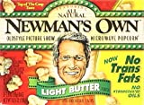 Newmans Own Light Butter All Natural Microwave Popcorn 10.5 oz (Pack of 12)