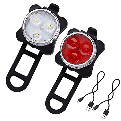 Rechargeable Headlight Taillight Combinations Bicycle Resistant